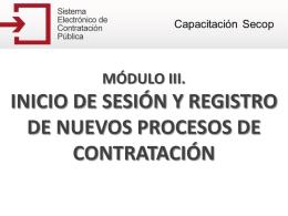 Registrar un nuevo proceso de contratación