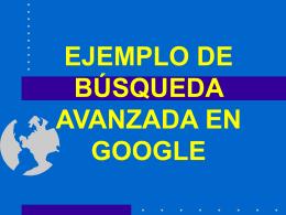 Un ejemplo de búsqueda avanzada en Google