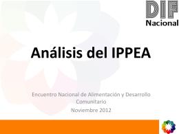 Análisis del IPPEA