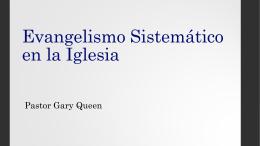 Evangelismo Sistemático en la Iglesia