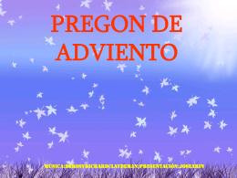 PREGON DE ADVIENTO