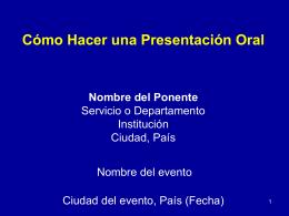 Como realizar una presentación oral