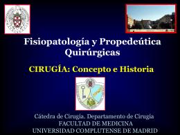 Cirugía: Concepto e Historia - Universidad Complutense de Madrid