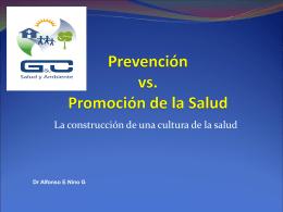 2. Diferencia entre prevencion y Promocion de Salud
