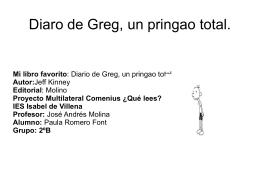 Diario de Greg por Paula Romero
