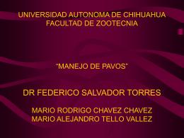 manejo de pavos - Universidad Autónoma de Chihuahua