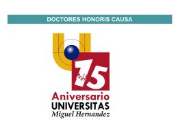 Listado de Doctores Honoris Causa por Curso Académico.