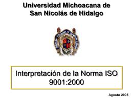"""Taller """" Interpretación de la Norma ISO 9000:2000 """""""
