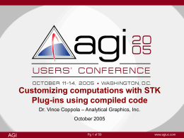 STK plug-ins using compiled code