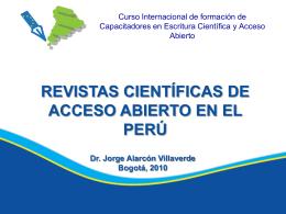 Revistas Científicas de acceso abierto en el Perú, Dr