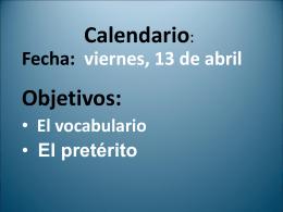 Calendario: