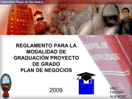 plan de negocios reglamento