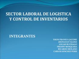 SECTOR LABORAL DE ALMACENES Y CONTROL DE INVENTARIO