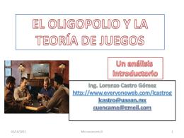El oligopolio. Características y equilibrios.