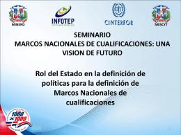 """SEMINARIO """"MARCOS NACIONALES DE CUALIFICACIONES"""