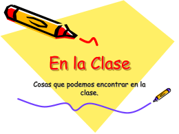 En la Clase - Primary Resources