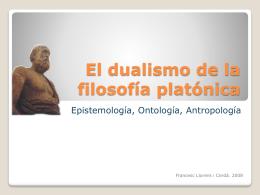 El dualismo de la filosofía platónica
