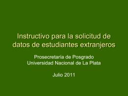 Instructivo de Solicitud de Datos de Estudiantes Extranjeros