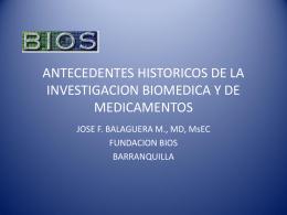 ANTECEDENTES HISTORICOS DE LA INVESTIGACION
