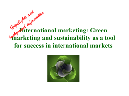 Green marketing - SRH Hochschule Heidelberg