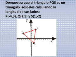 Demuestra que el triangulo PQS es un triangulo isósceles