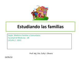 Estudiando las familias - Dpto. de Medicina Familiar y Comunitaria