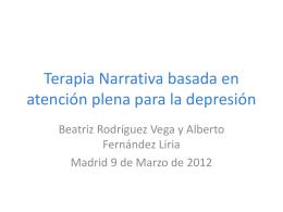Terapia Narrativa basada en atención plena para la depresión