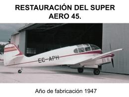 FASES DEL SUPER AERO 45 - Amigos de la Aeroplaza