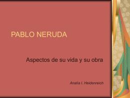 La poesía de Pablo Neruda