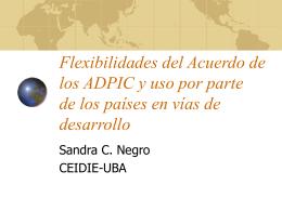 Flexibilidades del Acuerdo ADPIC y uso por parte de países en vías