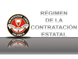 CONTRATACION ESTATAL - Universidad Libre Seccional Pereira