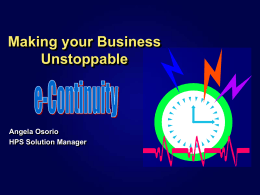 Keeping your business in business: High Availability & Disaster