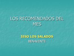 LOS RECOMENDADOS DEL MES