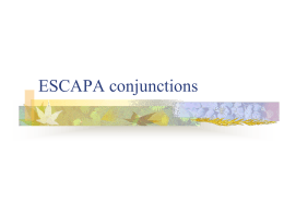 ESCAPA conjunctions