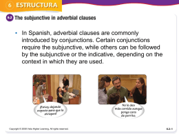 Subjunctive in adverbial clauses