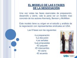 el modelo de las 8 fases de la negociación