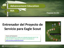 Entrenador del Proyecto de Servicio para Eagle Scout