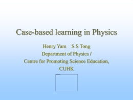 Case-based learning in Physics