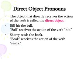 Clase 47 objeto directo gram