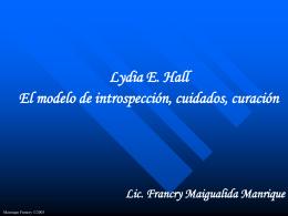 Lydia E. Hall - Enfermería 21