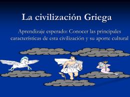 La civilización Griega - Fundación Educacional Mater Dei