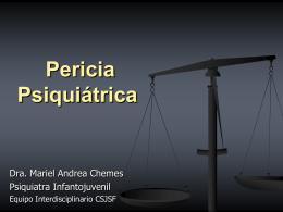 Pericia Psiquiátrica - Poder Judicial de la Provincia de Santa Fe