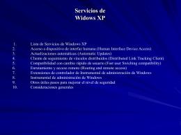 Servicios de Widows XP