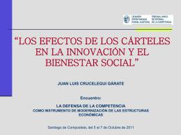 """""""Los efectos de los cárteles en la innovación y el bienestar social""""."""