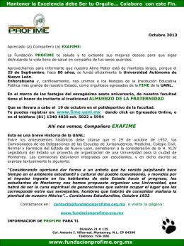 Octubre_2013 - Fundación PROFIME