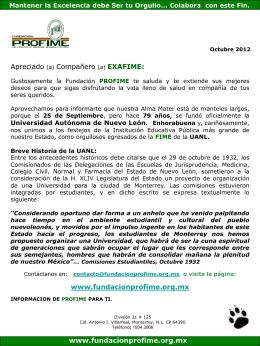 Octubre_2012 - Fundación PROFIME