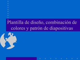 Plantilla de diseño, combinación de colores y vista diapositiva