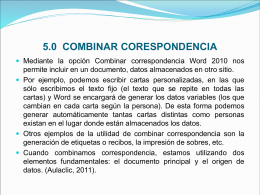 COMBINAR CORESPONDENCIA