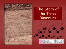 The Story of the Three Dinosaurs