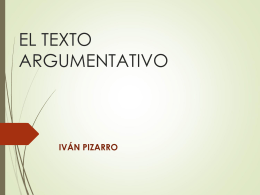 4. El texto argumentativo. Power Point